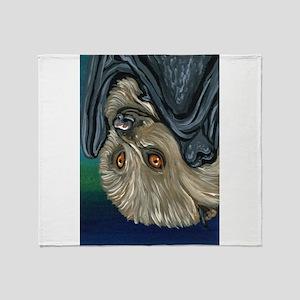 Flying Fox Bat Throw Blanket