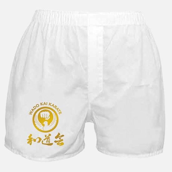 Wado Kai Karate Gold Boxer Shorts