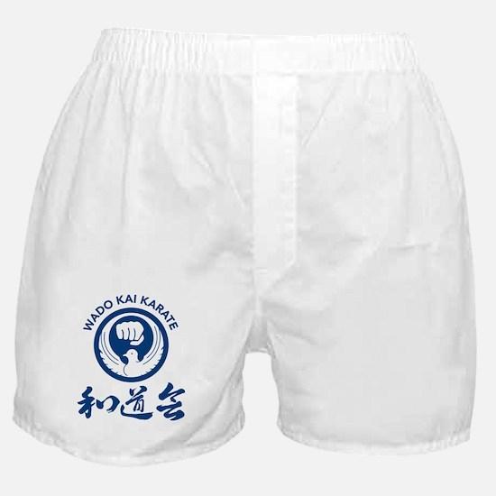 Wado Kai Karate Blue Boxer Shorts