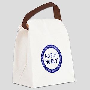 No Fly? No Buy! Canvas Lunch Bag