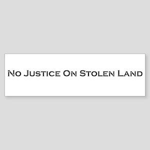 no justice Bumper Sticker