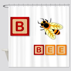 B Is For Bee Shower Curtain