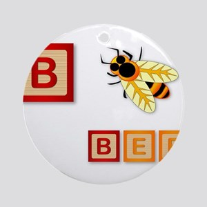 B Is For Bee Round Ornament