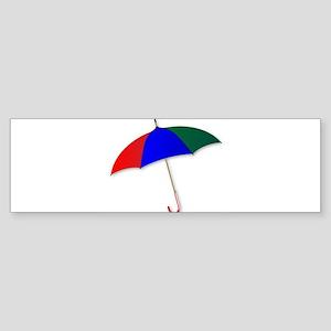 Umbrella Over White Bumper Sticker