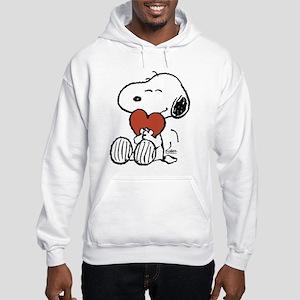 Snoopy Hugs Heart Hooded Sweatshirt