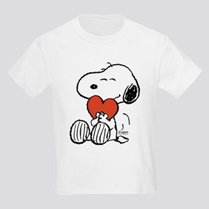 Snoopy Hugs Heart Kids Light T-Shirt