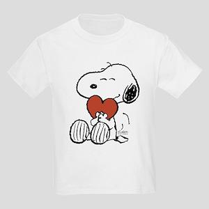Snoopy Hugs Heart Kids Light T-Shirt