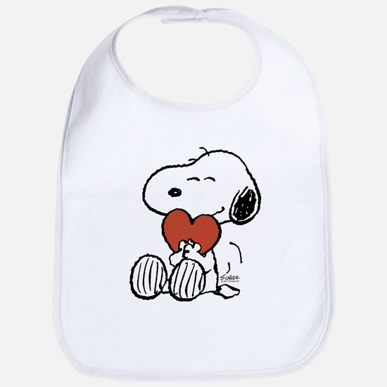 Snoopy Hugs Heart Cotton Baby Bib
