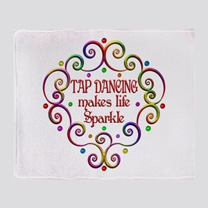 Tap Dancing Sparkles Throw Blanket