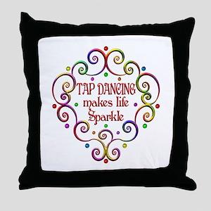 Tap Dancing Sparkles Throw Pillow