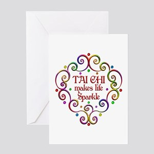 Tai Chi Sparkles Greeting Card