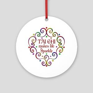 Tai Chi Sparkles Round Ornament