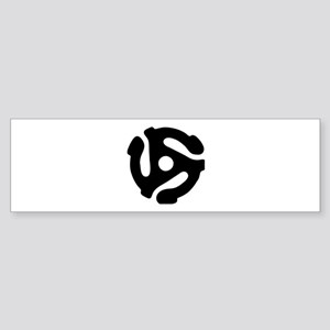 45 rpm vinyl adapter Bumper Sticker