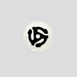 45 rpm vinyl adapter Mini Button