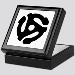 45 rpm vinyl adapter Keepsake Box