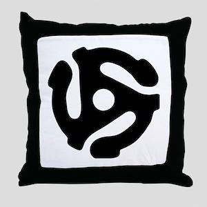 45 rpm vinyl adapter Throw Pillow