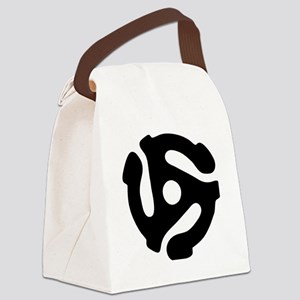 45 rpm vinyl adapter Canvas Lunch Bag