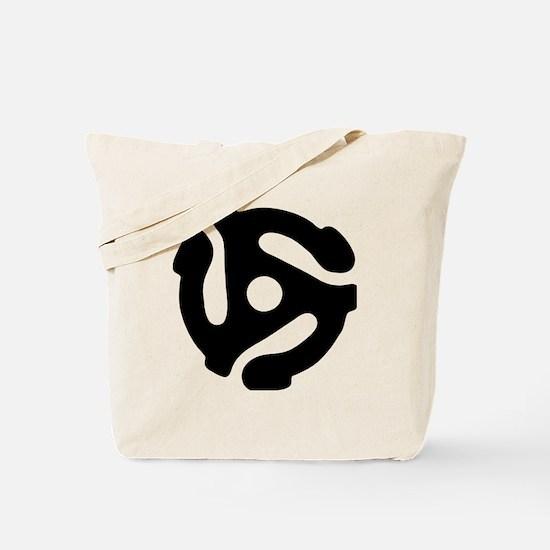 45 rpm vinyl adapter Tote Bag