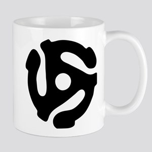 45 rpm vinyl adapter Mugs