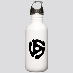 45 rpm vinyl adapter Sports Water Bottle