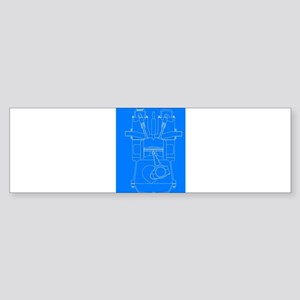 Diesel Engine Blueprint Bumper Sticker