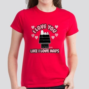 Peanuts Love You Like Naps Women's Classic T-Shirt