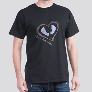Your Text Here Baby Feet in Heart T-Shirt