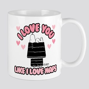 Peanuts Love You Like Naps 11 oz Ceramic Mug
