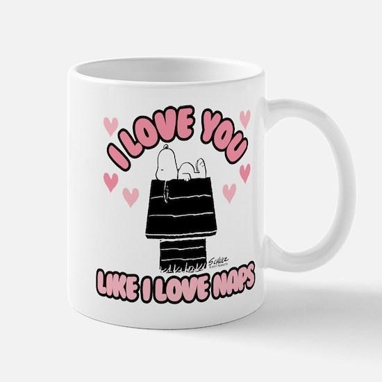 Peanuts Love You Like Naps Mug