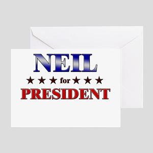 NEIL for president Greeting Card