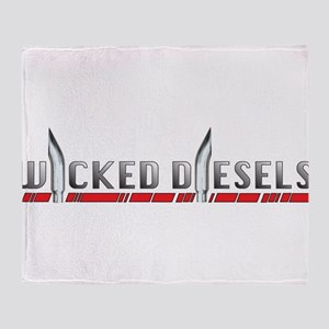 Wicked Diesels Logo Throw Blanket