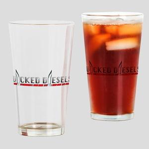 Wicked Diesels Logo Drinking Glass