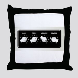 Guitar Ampifier Chicken Head Knobs Throw Pillow