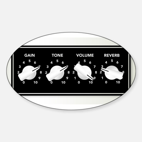 Guitar Ampifier Chicken Head Knobs Decal