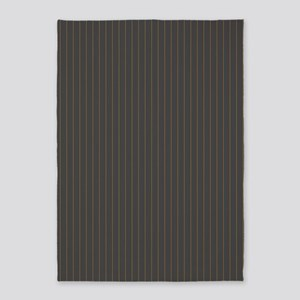 Gray and Orange Pinstripes 5'x7'Area Rug