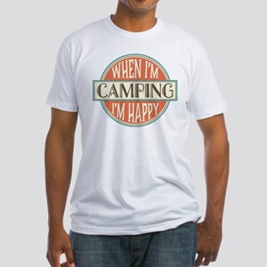 Camping Happy Fitted T-Shirt
