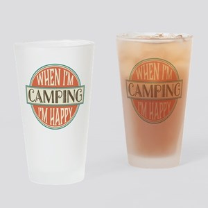 Camping Happy Drinking Glass