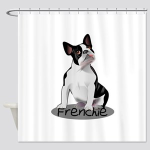 Frenchie the bulldog Shower Curtain