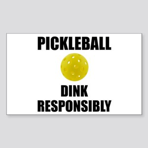 Pickleball Dink Responsibly Sticker