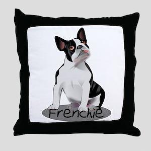 Frenchie the bulldog Throw Pillow