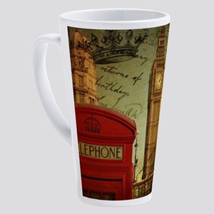 vintage London UK fashion 17 oz Latte Mug