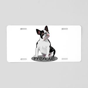 Frenchie the bulldog Aluminum License Plate