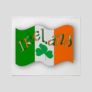 Irish Flag Throw Blanket