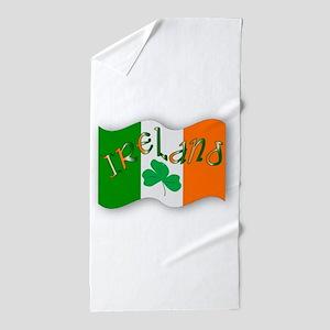 Irish Flag Beach Towel