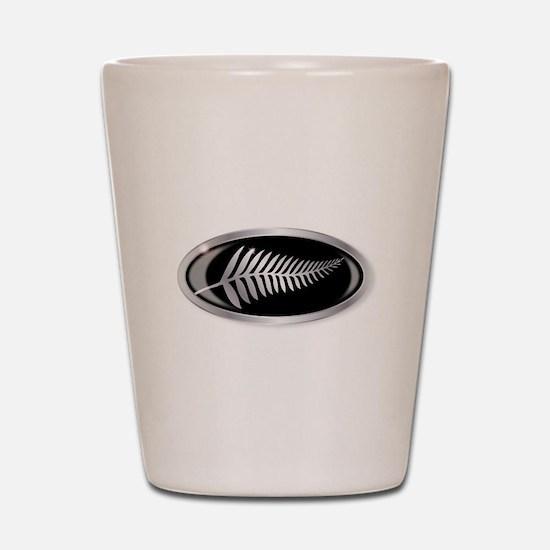 New Zealand Silver Fern Button Shot Glass