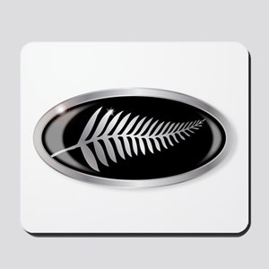 New Zealand Silver Fern Button Mousepad