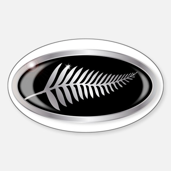 New Zealand Silver Fern Button Decal