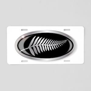 New Zealand Silver Fern But Aluminum License Plate