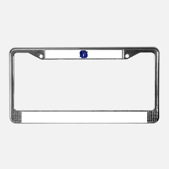 Iridescent Angel License Plate Frame