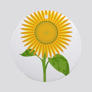 Giant Sunflower Round Ornament